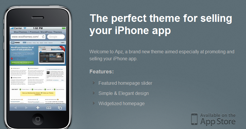 IPhone Apps Wordpress Themes - Best Wordpress Themes for