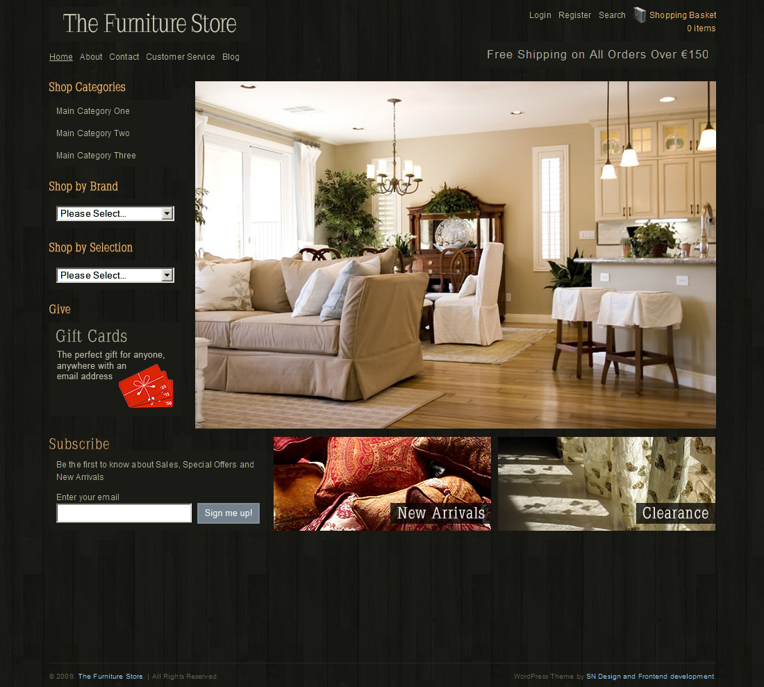 8 online shopping wordpress themes for niche stores wp for Interior design and furniture websites for your inspiration