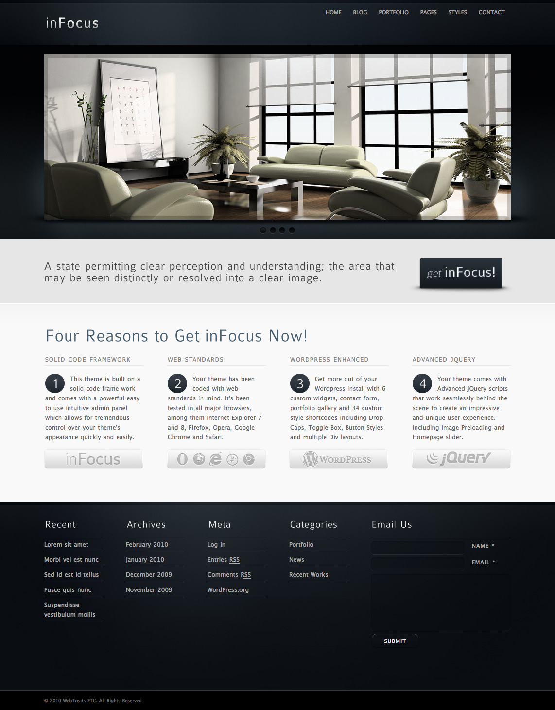 inFocus : a highly customizable theme for startups and corporations