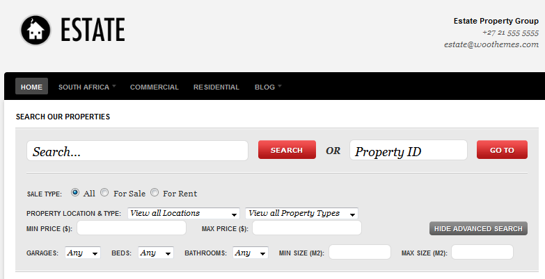 Estate: a Real Estate Theme for WordPress 3 - WP Solver
