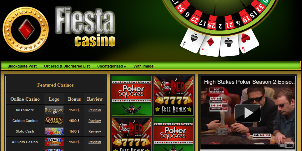 Poker wordpress