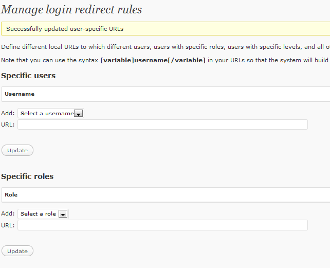 how to use redirection plugin