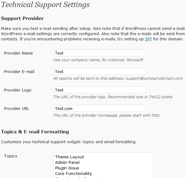 Technical Support Wordpress Support Plugin For Developers Wp Solver