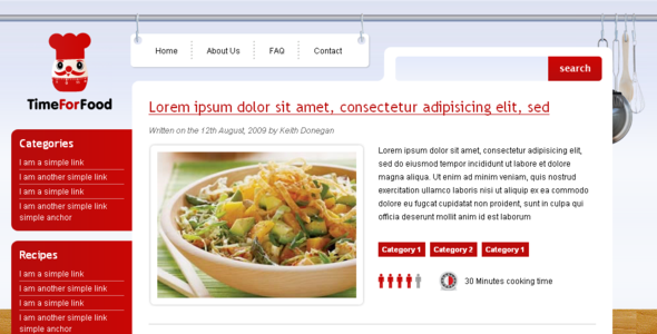 5 wordpress themes for food recipe magazines wp solver time for food this theme is developed for those of you who want to explore and share new recipes with your audience online forumfinder Image collections
