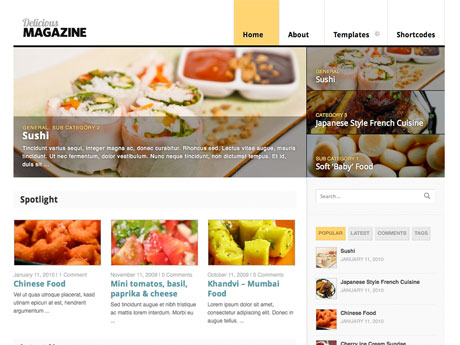 5 wordpress themes for food recipe magazines wp solver delicious magazine this can be used for recipe sites and food magazines in general it has 9 colors and various custom widgets forumfinder Images