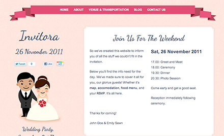Online dating wedding theme