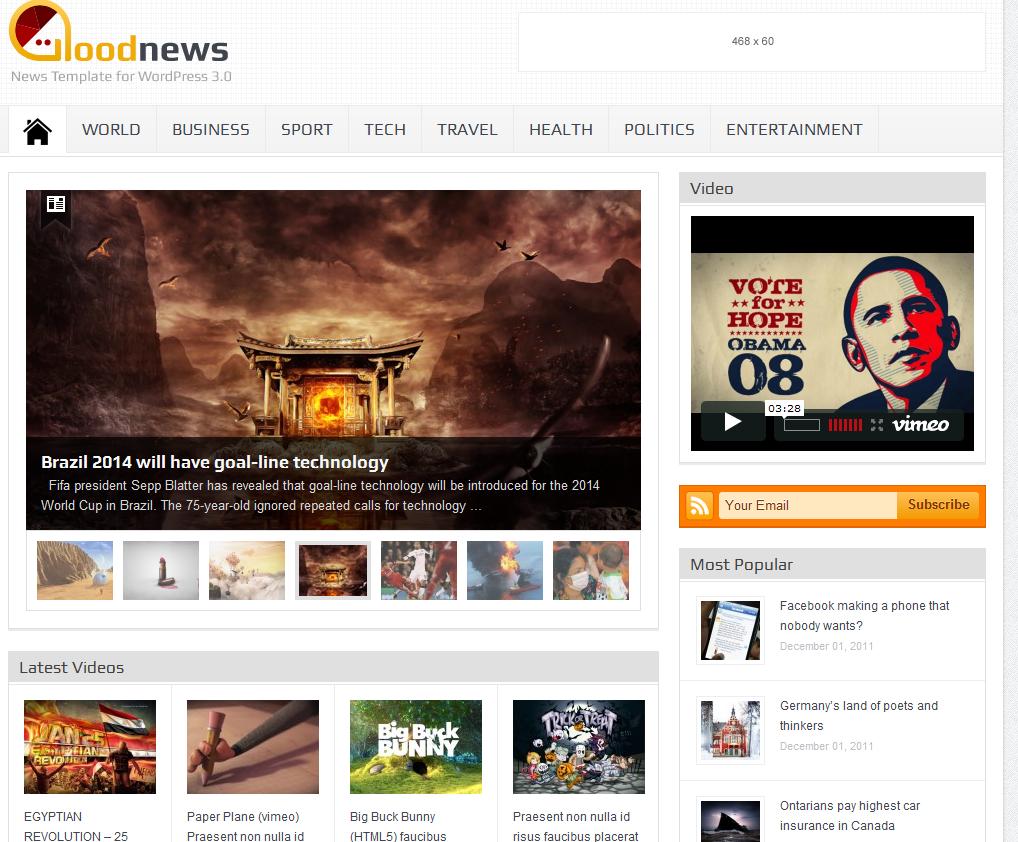 Goodnews: WordPress Magazine Theme - WP Solver