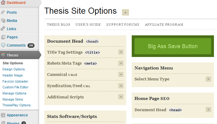 thesis theme seo features The thesis theme is reminiscent of a homepage building block, but goes  you  can also implement a variety of essential seo features, such as.