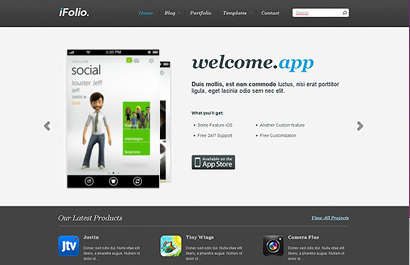 WordPress Themes for App Sites: Themes for iPhone / Android Sites