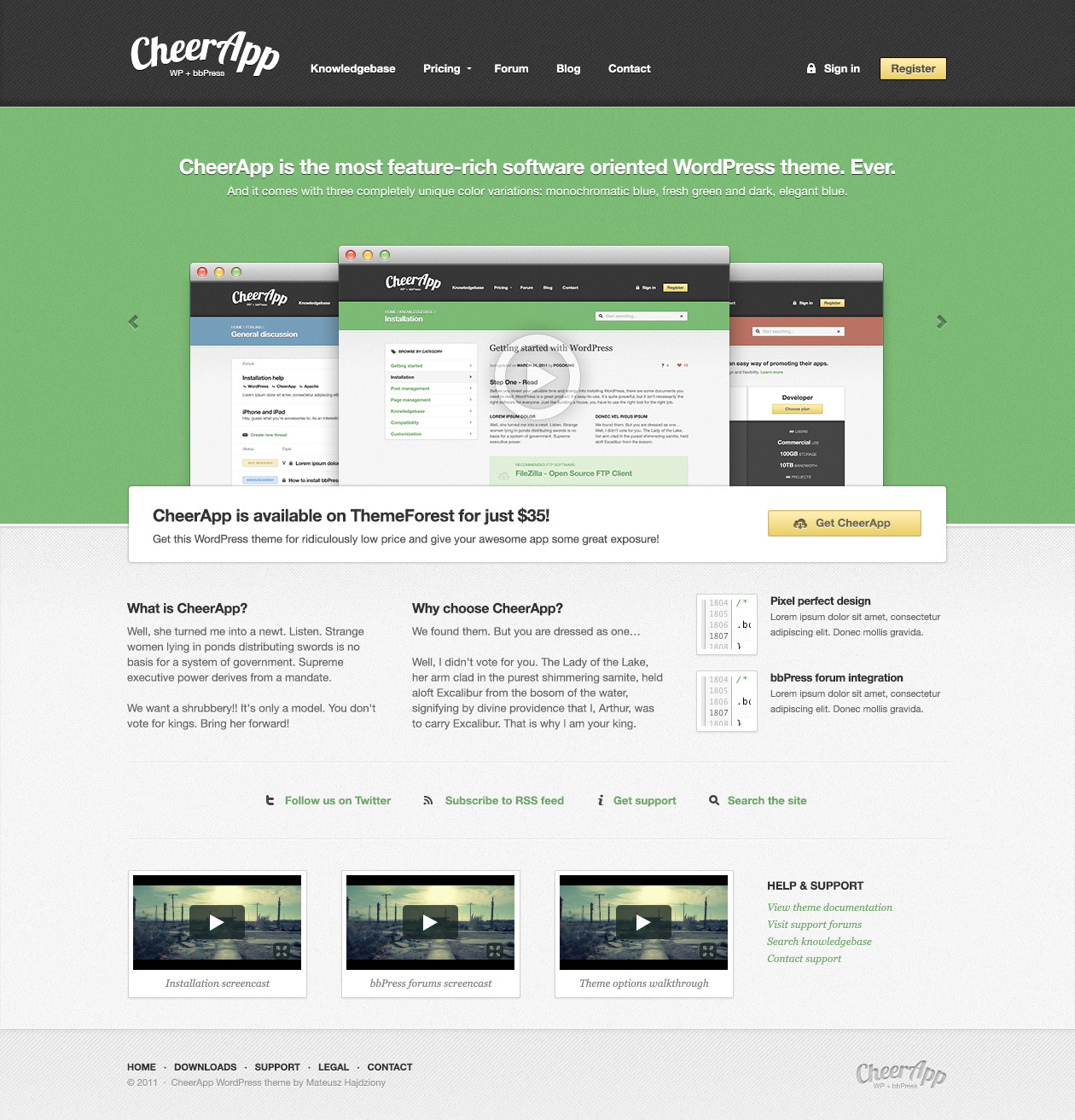 Cheerapp Wordpress Theme For Software Sites Wp Solver