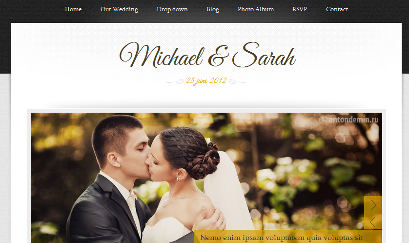 Marriage page
