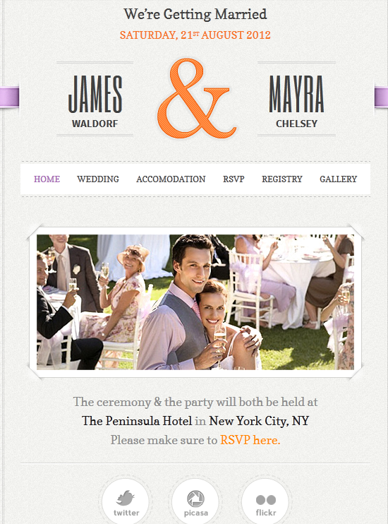 Just Married WordPress Theme for Wedding Sites - WP Solver