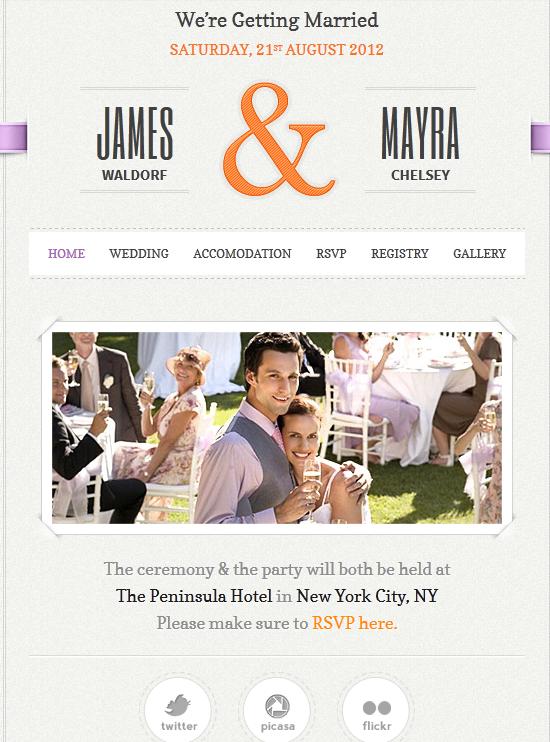 Just Married WordPress Theme for Wedding Sites | WordPress Jedi