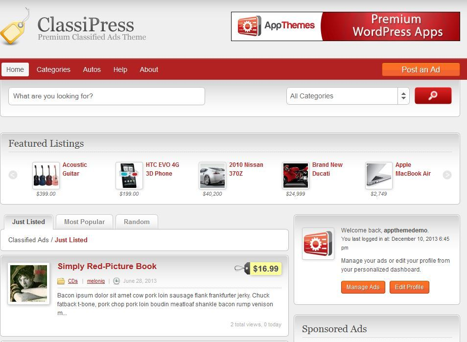 Classified Wordpress Themes - Best Listing Wordpress Themes