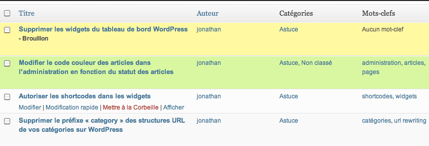 How To Change Posts Colors in WordPress Admin Panel - WP Solver