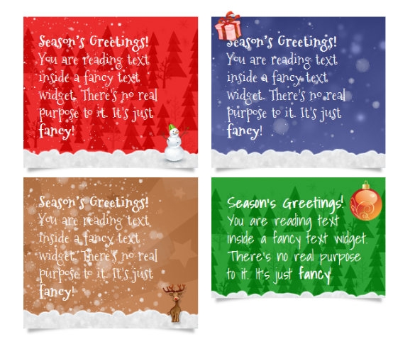 Text Christmas Card