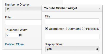 sidebar widget