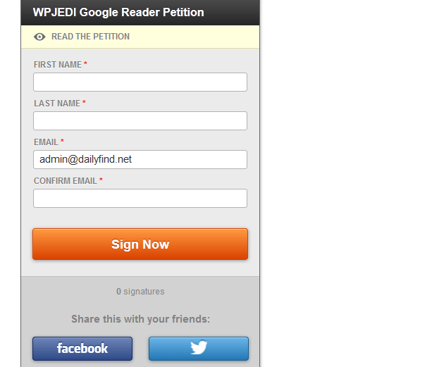 Email Petitions WordPress
