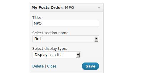 posts order