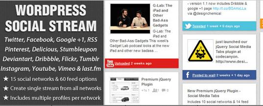 wordpress social stream