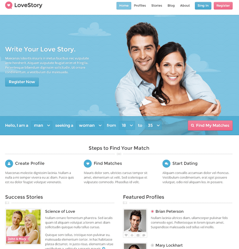 Themed dating websites