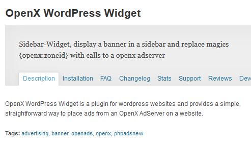 openx widget