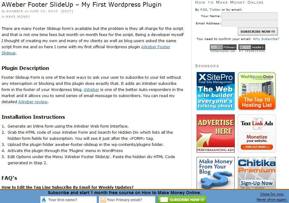 3 Cool Footer Slideup WordPress Plugins for Newsletters and Promotions