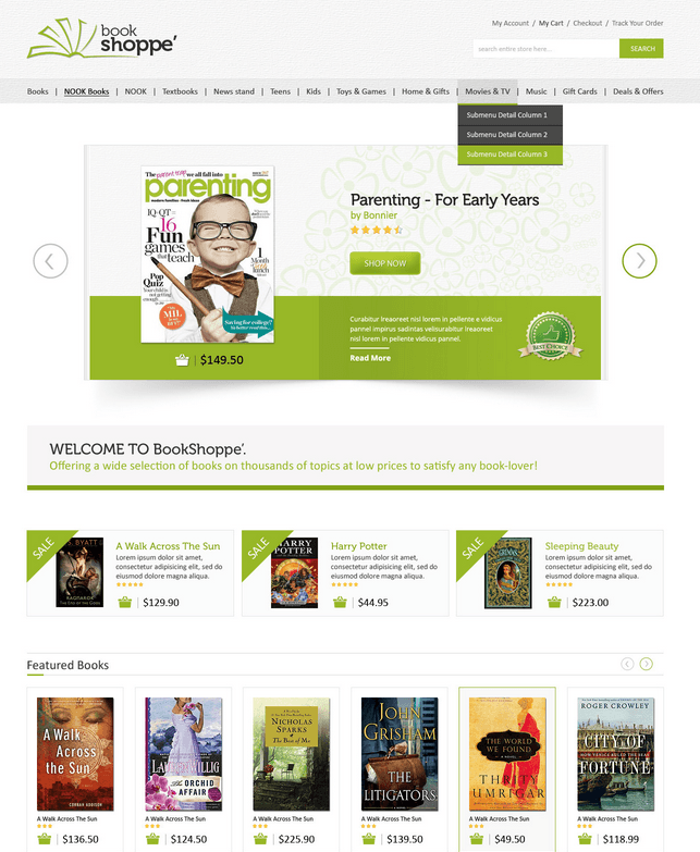Book Store: WooCommerce Theme for Book Shops