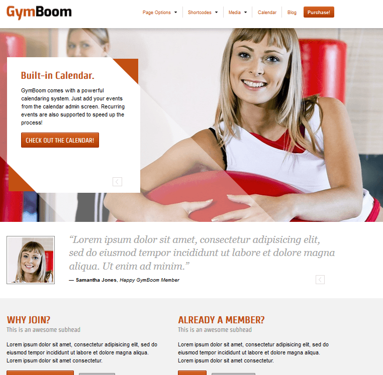 GymBoom: 100% GPL Fitness Theme for WordPress