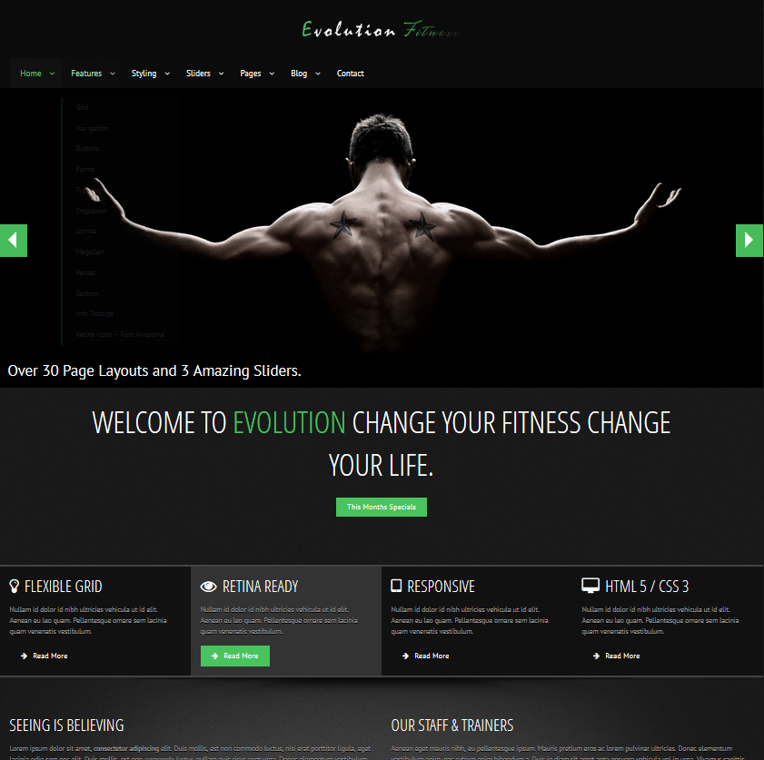 Evolution Fitness Theme for WordPress