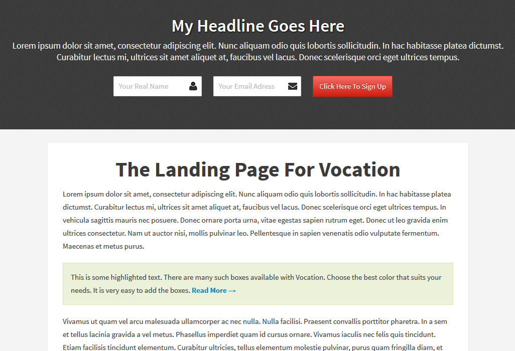 landing apge