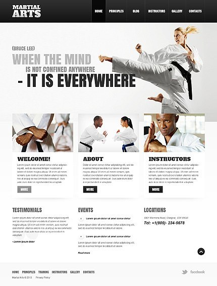 5 MMA WordPress Themes for Mixed Martial Arts Sites