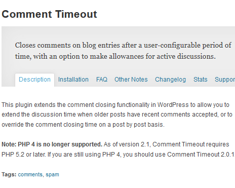 comment timeout