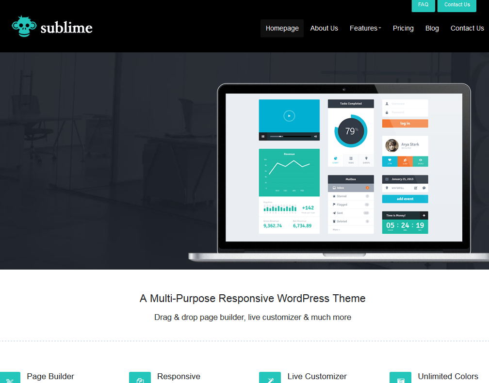 Sublime: WordPress Theme for Software Developers - WP Solver