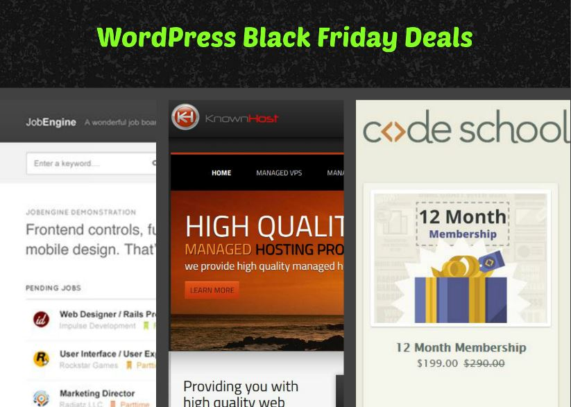 WordPress Deals for Black Friday 2013