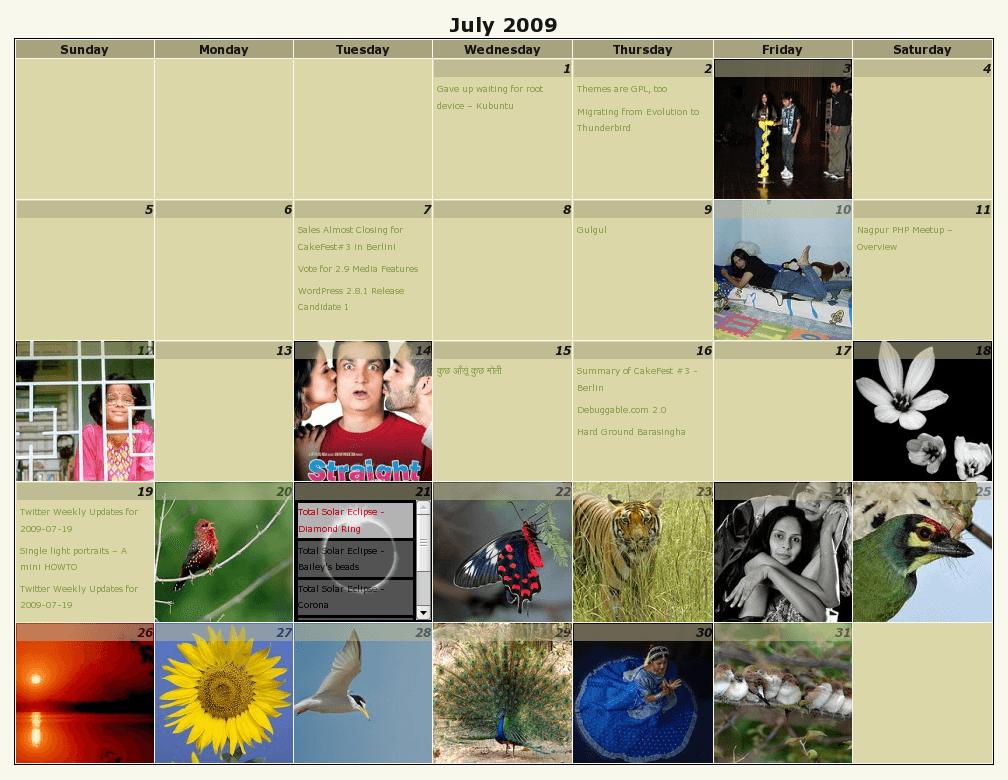 calendar archives