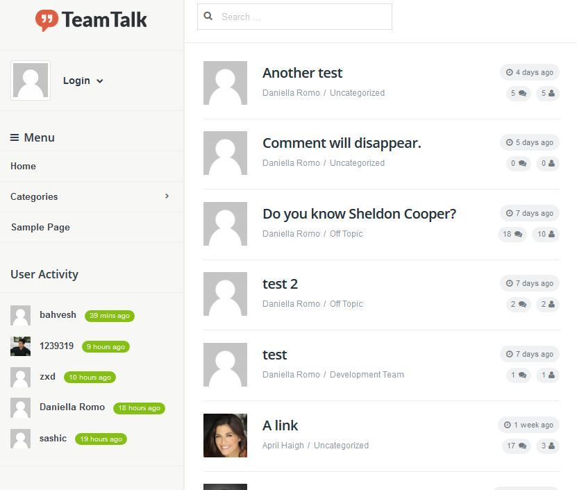 Team Talk: Real Time Collaboration WordPress Theme