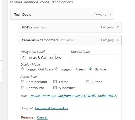 How to Hide WordPress Custom Menu by Role or Login Status