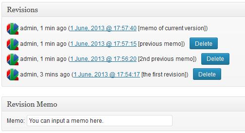 revisions plugin