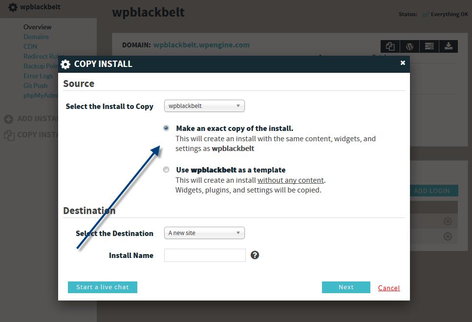 copy install