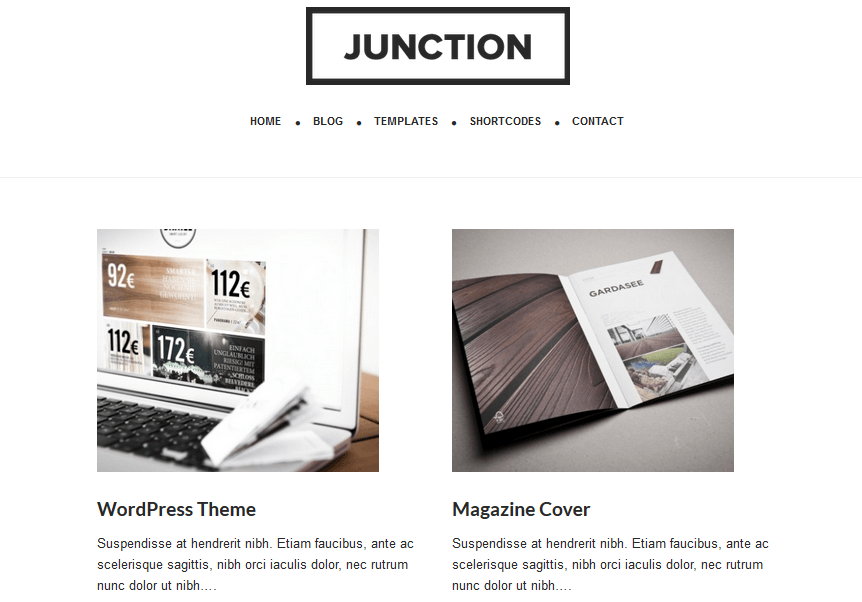 Junction: Modern Responsive Business Theme for Thesis & Genesis