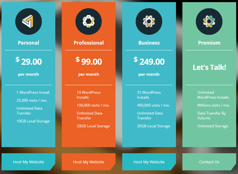 Buy WordPress Hosting  Price Colors
