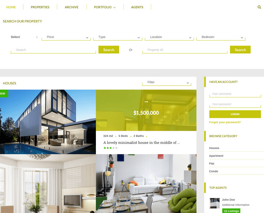 Joglo: Real Estate WordPress Theme for WooCommerce