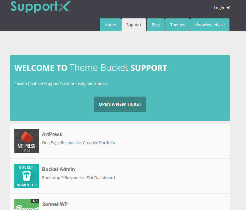 SupportX: WordPress Theme for Envato Authors