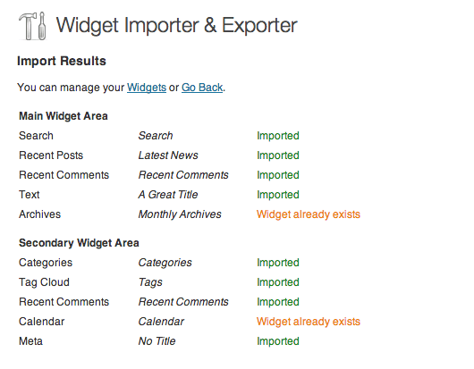 How to Import/Export WordPress Widgets
