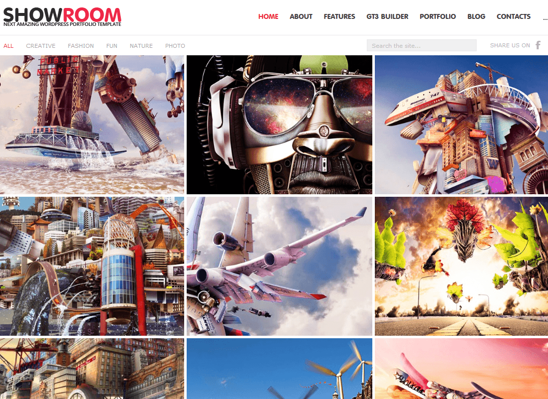 Showroom Portfolio Retina Ready WordPress Theme