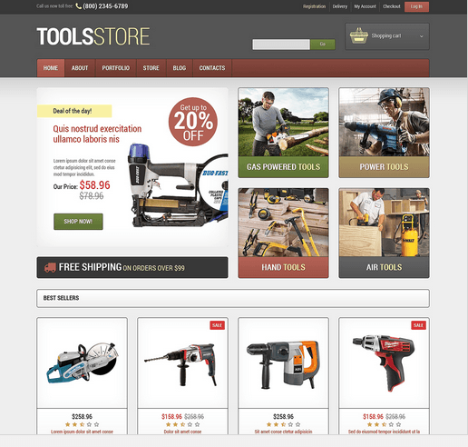 3 WordPress Themes for Tools & Hardware Stores - WP Solver