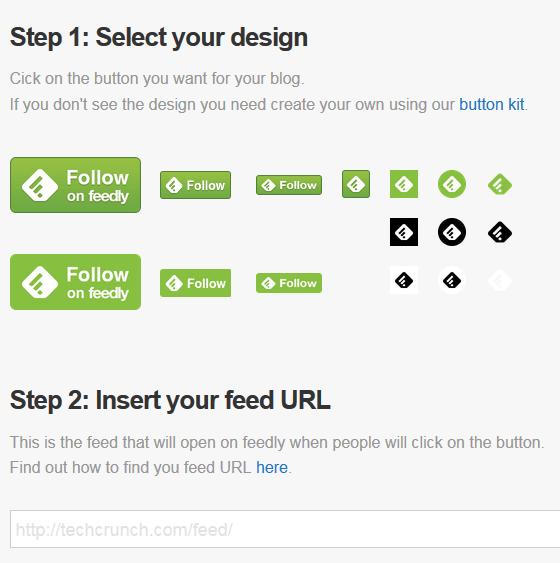 feedly button