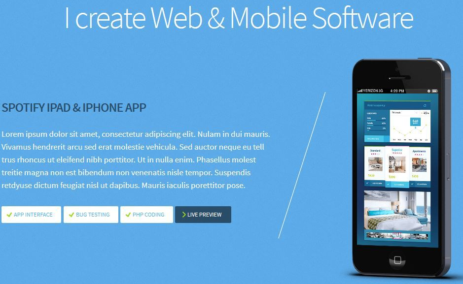 15 WordPress Themes for Mobile App Developers
