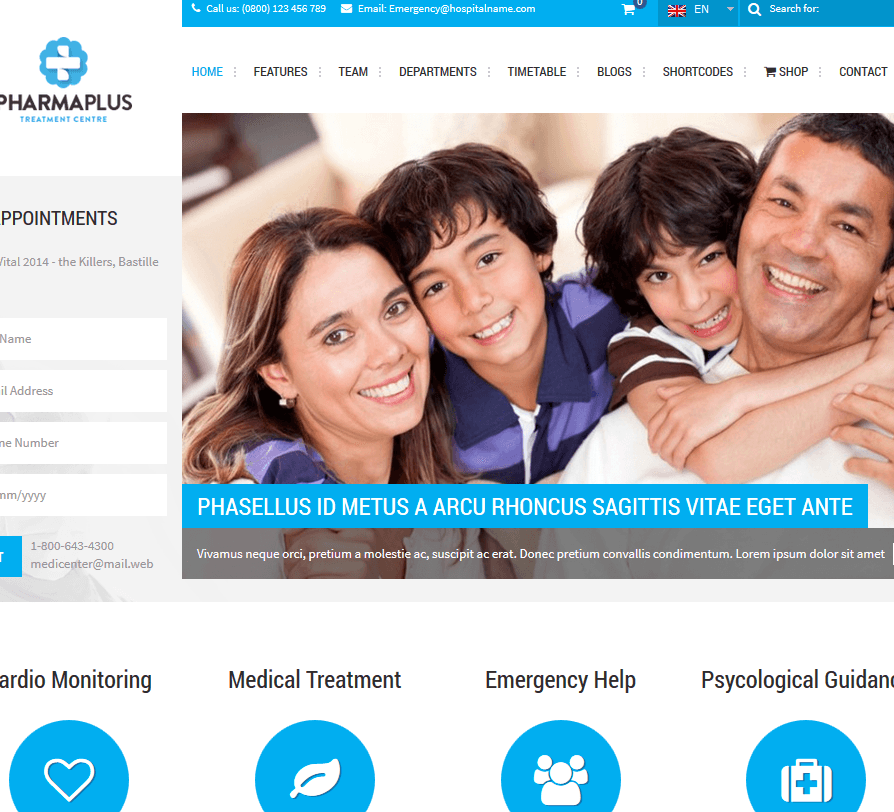 7 Pharmacy WordPress Themes